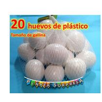 20 Huevos Plástico Comida Juguete Replica Escenografia Prop