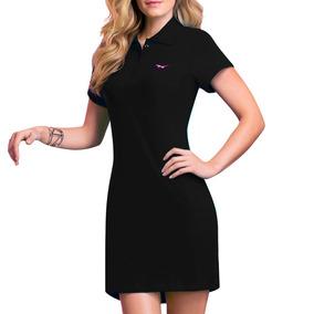 Vestido Polo Algodon Bordado Sexy Negro 70081 Vicky Form