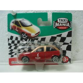 Taxi Mania Taxi Compacto Nuevo Df Chevy Rojo/dorado 1:64