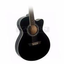 Guitarra Electroacustica Washburn Ea14 Bk Negra