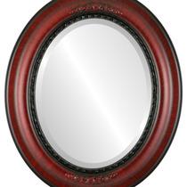 Espejo De Pared Boston Framed Oval In Vintage Cherry, 17 X2