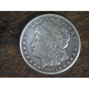 Antigua Moneda De Plata Un Morgan 1883