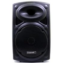 Caixa De Som Ecopower Ep-1903 Blutooth 2 Microfones S/fio