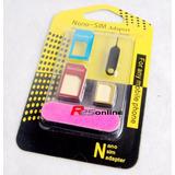 Adaptador De Chip 3 Em 1 Celular Mini Micro E Nano Sim Novo