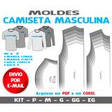 Camisetas Masculinas Moldes + Curso Corte E Costura
