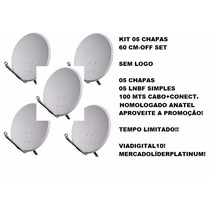 Antena De Chapa 60cm Logo Claro! Pac 05 Unidades! Promoção!