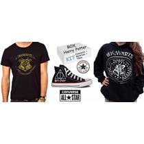 Box Harry Potter Hogwarts Kit Tênis + Moletom + Camiseta
