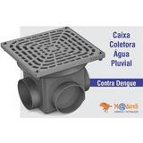 Caixa Coletora De Água Para Água De Chuva, Furos C/ 100mm