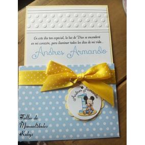 Invitaciones De Bautizo Mickey Mouse Bebe