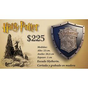 Harry Potter Slytherin Escudo Hecho En Madera.