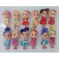 Chaveiro Boneca P/chaves Princesas Kit Com 12 Pecas Sortidas