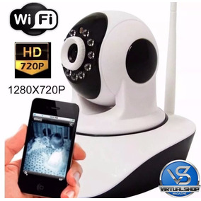 Camera Ip P2p Robo Sem Fio Wifi Infra Noturna Wireless 720hd