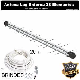 Kit01 Antenas Espinhas De Peixedigital 14dbi 28 Elementos