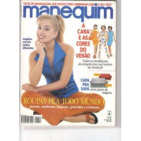 Revista Manequim Nº442 - Out 1996 - Capa Angélica Com Moldes