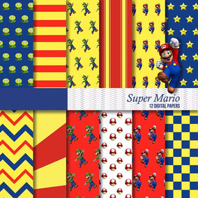 Kit Imprimible Pack Fondos Super Mario Bros 44 Clipart