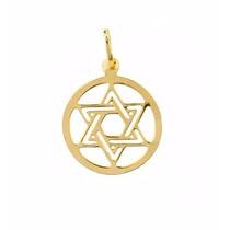Pingente De Ouro 18k Estrela De Davi / Salomão - Viagold P01