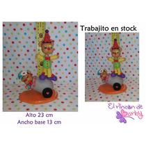 Adorno De Torta Osos Payasos Circo Porcelana Fria - En Stock