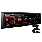 Pioneer Mp3 Player Mvh-298bt Radio Bluetooth Usb Aux - 2017
