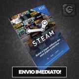 Steam Cartão Pré-pago R$20 Reais Crédito Card - Imediato