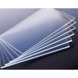 4 Chapas Placa Acrílico Transparente 1 M X 50 Cm - 2mm