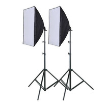 Kit 2 Softbox 50 X 70 E27 Tipo Sombrinha + 2 Tripes 2m