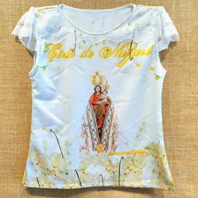 Camisas Do Círio, Modelo Em Crepe Ou Cetim