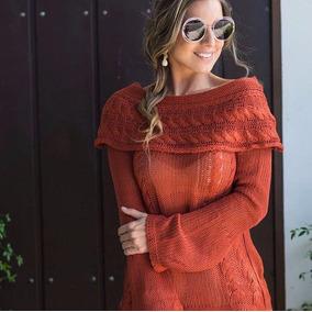 Blusa Trico Ombro A Ombro Detalhe Maravilhoso Croche Moda