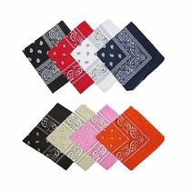 Pañuelo Bandanas Por 12 Unidades Color A Eleccion