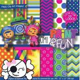 Kit Imprimible Pack Fondos Umizoomi Clipart