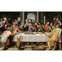 Lienzo Tela La Santa Cena Juan De Juanes Arte Sacro 50x80cm