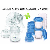 Sacaleche Manual Avent+vasos Contenedoresx10 Avent