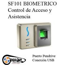 Control Acceso Y Asistencia Sf101 Zk Software Envio Gratis