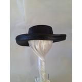 Sombrero De Ala Recta En Rafia, Diseño Exclusivo!