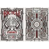 Baraja Grid 2.0 Roja Edición Limitada Bicycle Por Gamblers