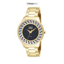 Relógio Dourado Feminino Dumont Du2035lmk/4p- Lançamento.