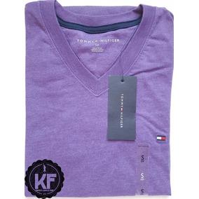 Camiseta Básica Gola V Tommy Hilfiger Original Masculina