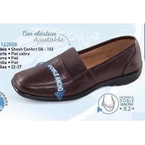 Zapato Doble Ancho Confort Pie Ancho Confort Cafe 22 A 27