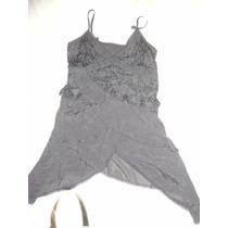 Vestido Importado Formal Con Encaje Y Picos. Seda Fria Dark