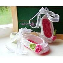 Zapatos Tejidos A Crochet Tipo Bailarina