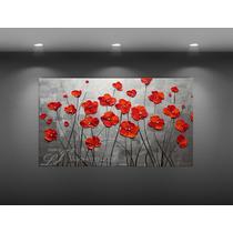 Cuadros Decorativos Flores Óleo Con Espátula Personalizado