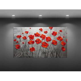 cuadros decorativos flores leo con esptula