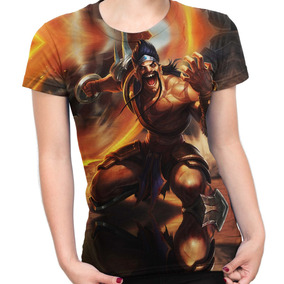 Camiseta Baby Look Draven Jogo League Of Legends Game Lol