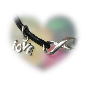 Pulsera Símbolo Amor Infinito Love Plata Ley Solida 925