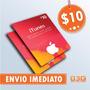 Turbine Seu Ipod/iphone! Itunes Gift Card De 10 Dólares Usa