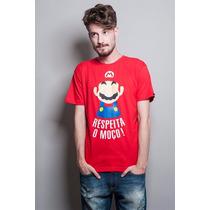 Camiseta Super Mário Bigode Grosso Masculino - Chico Rei
