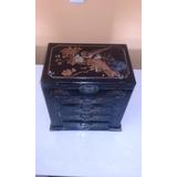 Caixa De Madeira Porta Jóias Chinesa Importada 30x33x20