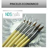 6 Pinceles Para Acrilico Economico #2,4,6,8,10,12