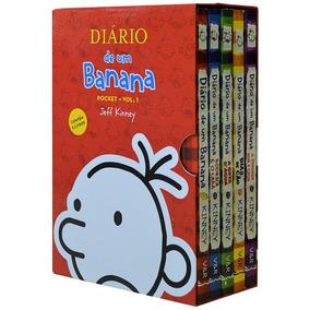 Box Diário De Um Banana 5 Volumes Jeff Kinney