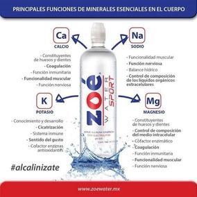 Zoé Water Sport ® 900ml Alcalina Con Electrolitos Ph 9.5