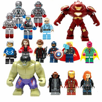 Lego Vingadores Ultron Coleção 16 Bonecos Lego Compatível